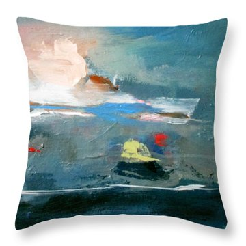 Throw Pillow featuring the painting Ocean At Best by John Jr Gholson