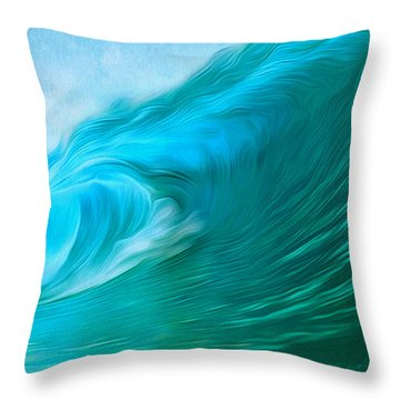 Ocean At Play Larger Version Throw Pillow