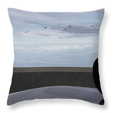 Ocean Balcony Throw Pillow by Richard Rizzo