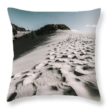Ocean Beach Desert In Tasmania Throw Pillow