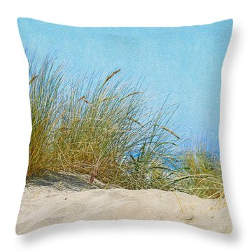 Ocean Beach Dunes Throw Pillow