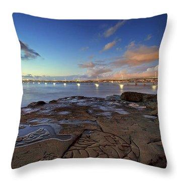 Ocean Beach Pier At Sunset, San Diego, California Throw Pillow