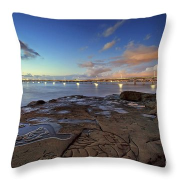 Ocean Beach Pier At Sunset, San Diego, California Throw Pillow