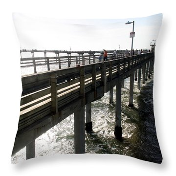 Throw Pillow featuring the photograph Ocean Beach Pier by Christopher Woods