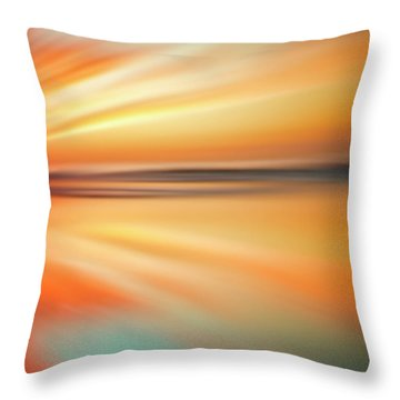 Ocean Beach Sunset Abstract Throw Pillow
