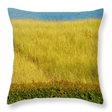 Ocean View Joseph's By The Sea Old Orchard Beach Maine Throw Pillow by Patricia E Sundik
