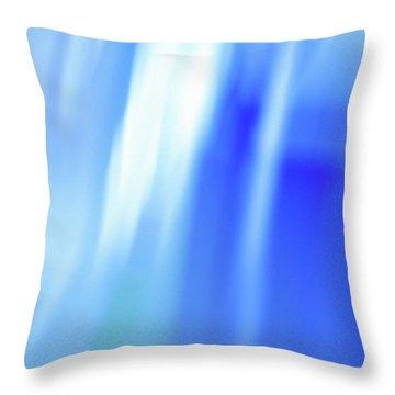 Ocean Blues Abstract Throw Pillow