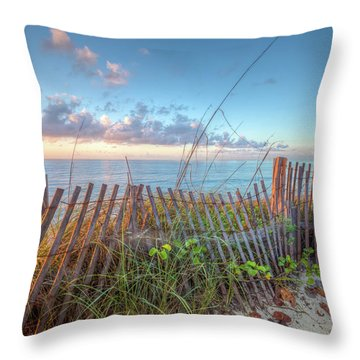 Throw Pillow featuring the photograph Ocean Blues by Debra and Dave Vanderlaan