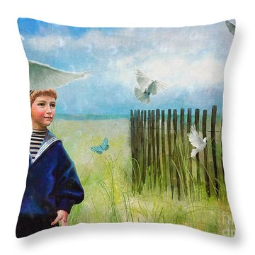 Throw Pillow featuring the digital art Ocean Breeze by Alexis Rotella