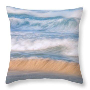 Ocean Caress Throw Pillow