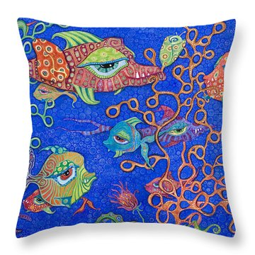 Ocean Carnival Throw Pillow by Tanielle Childers