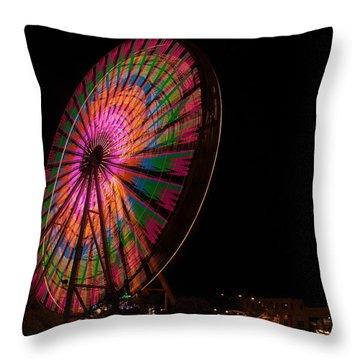 Ocean City Ferris Wheel 2 Throw Pillow