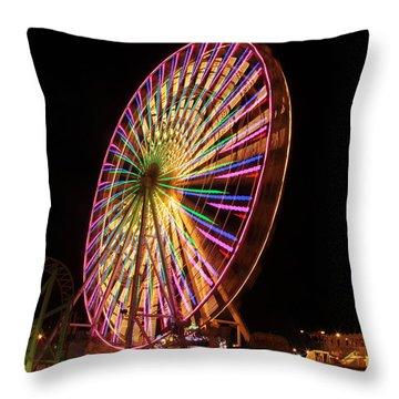 Ocean City Ferris Wheel1 Throw Pillow