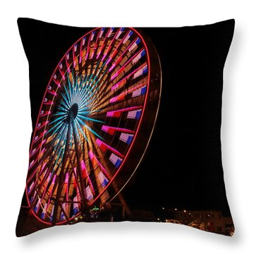 Ocean City Ferris Wheel6 Throw Pillow