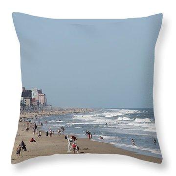Ocean City Maryland Beach Throw Pillow