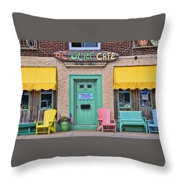 Ocean City N J Surf Cafe Throw Pillow