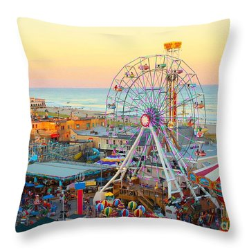 Ocean City New Jersey Boardwalk Throw Pillow