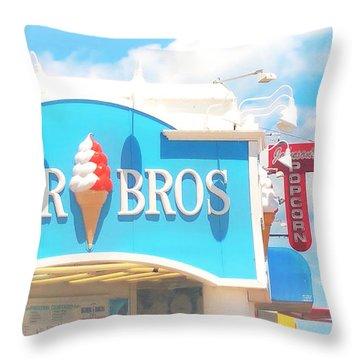 Ocean City Nj Kohr Bros Johnson Popcorn Throw Pillow