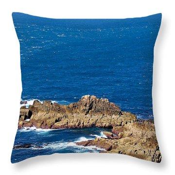 Ocean Cliffs Throw Pillow by Svetlana Sewell