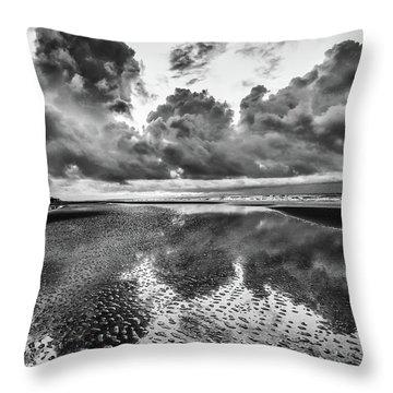 Ocean Clouds Reflection Throw Pillow