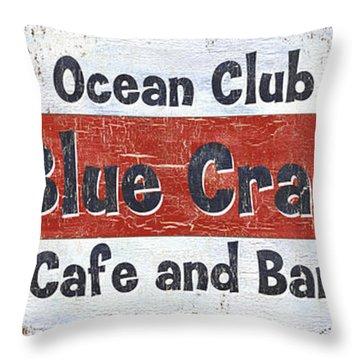 Ocean Club Cafe Throw Pillow