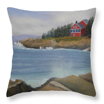 Ocean Cottage Throw Pillow