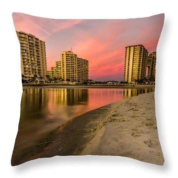 Ocean Creek Throw Pillow by David Smith
