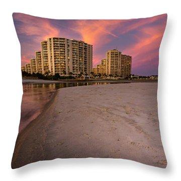 Ocean Creek Panoramic Throw Pillow by David Smith