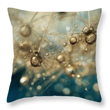 Throw Pillow featuring the photograph Ocean Deep Dandy Drops by Sharon Johnstone