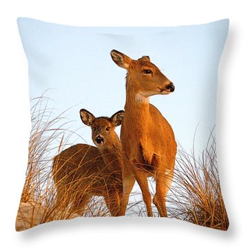 Ocean Deer Throw Pillow