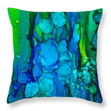 Throw Pillow featuring the painting Ocean Depths by Nikki Marie Smith