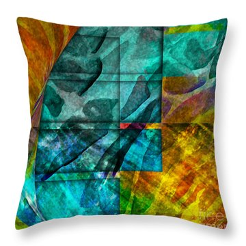 Ocean Doors Throw Pillow by Allison Ashton