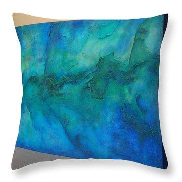 Throw Pillow featuring the painting Ocean Dreams by Tamara Bettencourt