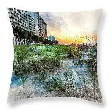 Ocean Drive Easter Sunrise Throw Pillow