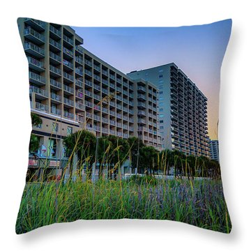 Ocean Drive Sunrise North Myrtle Beach Throw Pillow