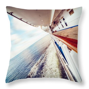 Throw Pillow featuring the photograph Ocean Escapism by Ray Devlin