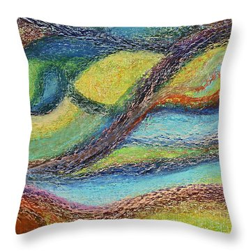 Ocean Flow Throw Pillow