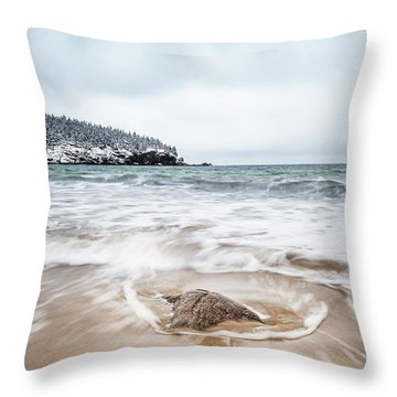 Ocean Flows Throw Pillow