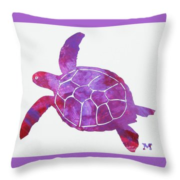 Throw Pillow featuring the painting Ocean Freedom by Candace Shrope