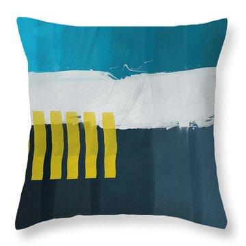 Ocean Front Walk 2- Art By Linda Woods Throw Pillow