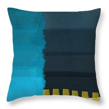 Ocean Front Walk- Art By Linda Woods Throw Pillow