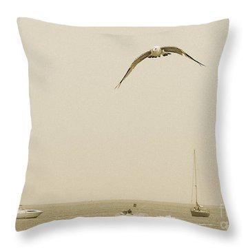 Throw Pillow featuring the photograph Ocean Fun by Raymond Earley