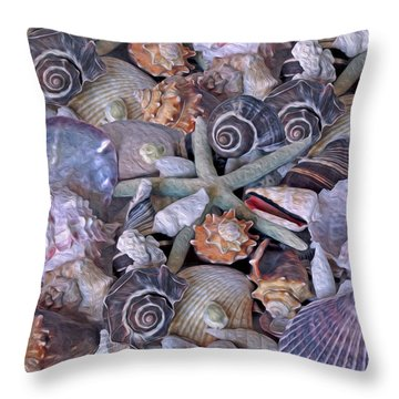 Ocean Gems 11 Throw Pillow by Lynda Lehmann