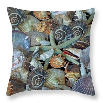Ocean Gems 5 Throw Pillow