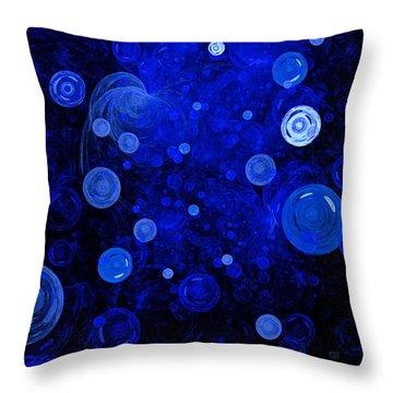 Ocean Gems Throw Pillow by Menega Sabidussi