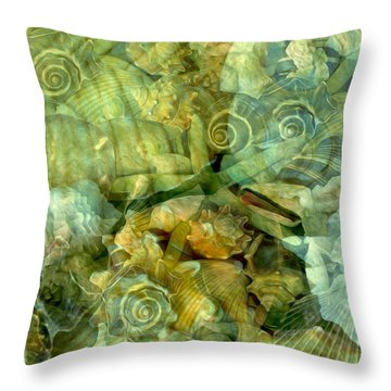 Ocean Gems Underwater Throw Pillow by Lynda Lehmann