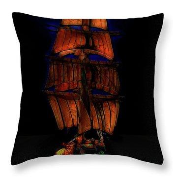 Ocean Glow Throw Pillow by Michael Cleere