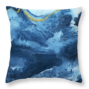 Ocean Gold- Abstract Art By Linda Woods Throw Pillow