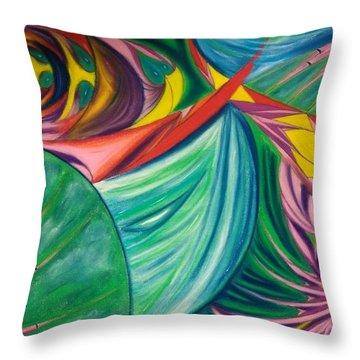 Ocean Graffiti Throw Pillow