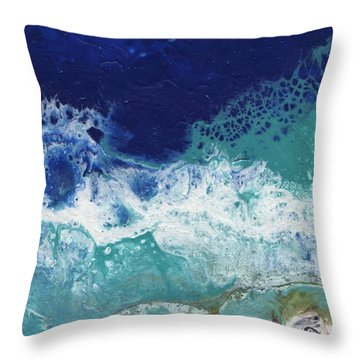 Throw Pillow featuring the painting Ocean by Jamie Frier
